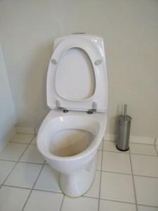 Toilet løber efter skyl