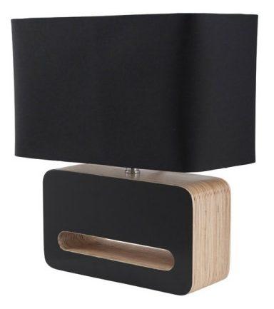 Sort-bordlampe-Wood-Lampe