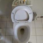 Toilet løber cisterne åbnet