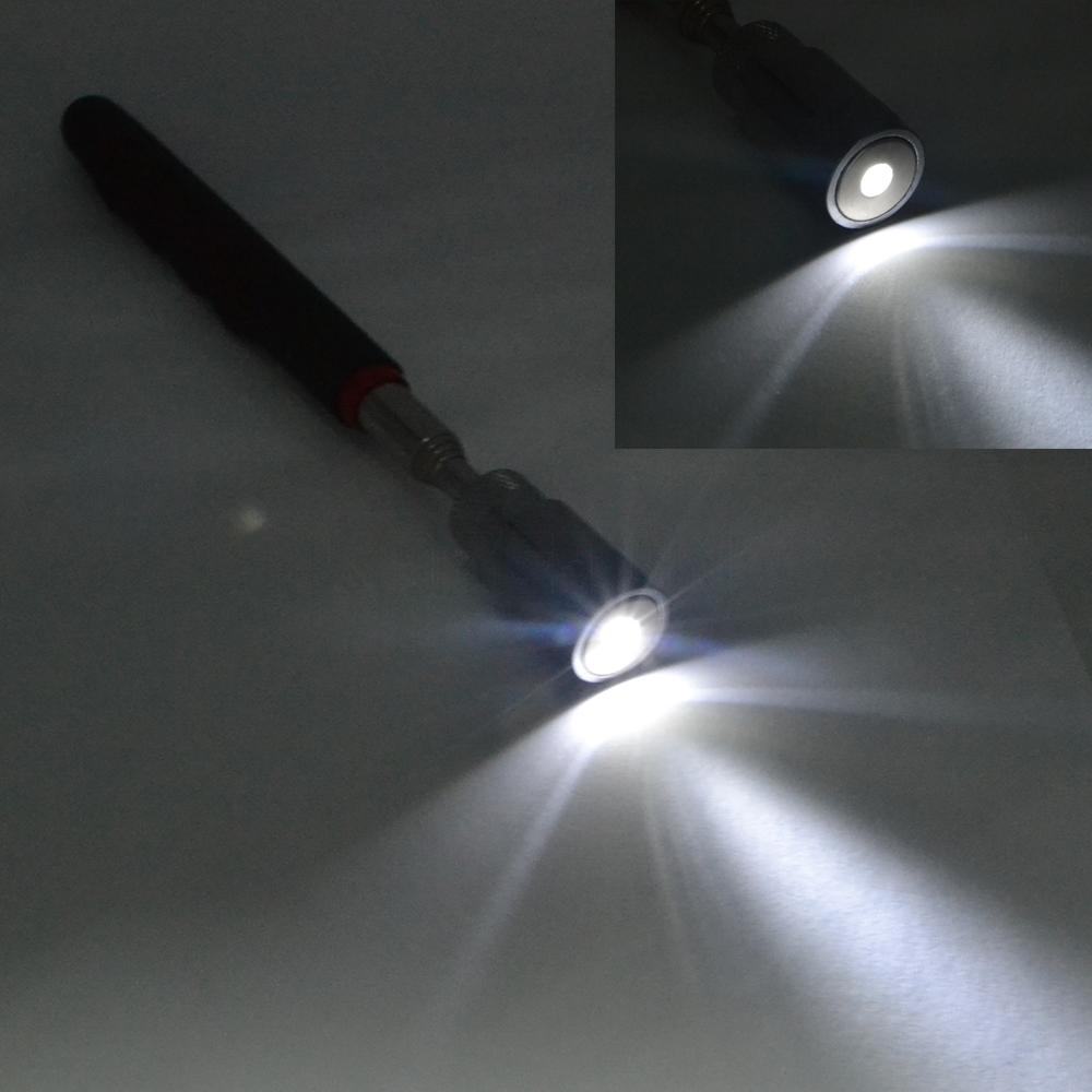 telskop med magnet og led lys